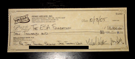 The ESA Foundation Check