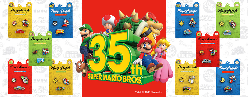 Super Mario Bros.™ 35th Anniversary Pins