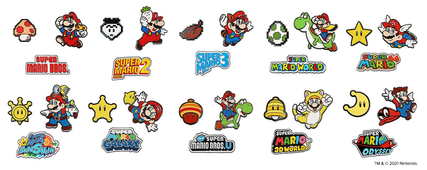 All Super Mario Bros. 35th Anniverary Pins
