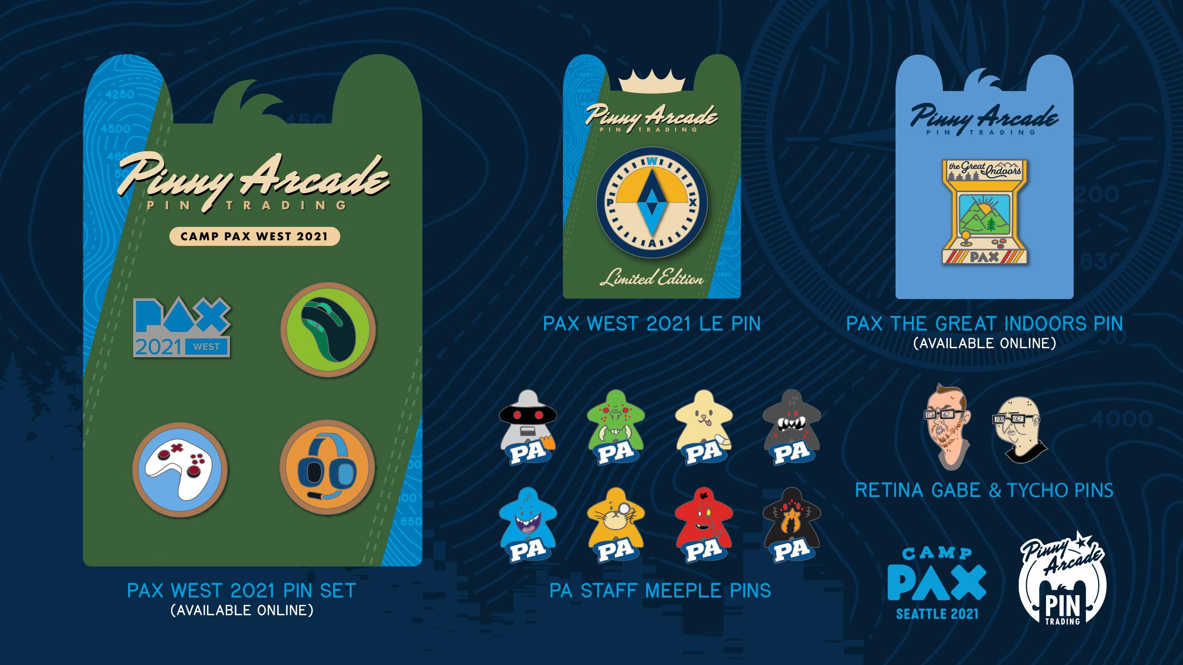 PAX West 2021 Pins