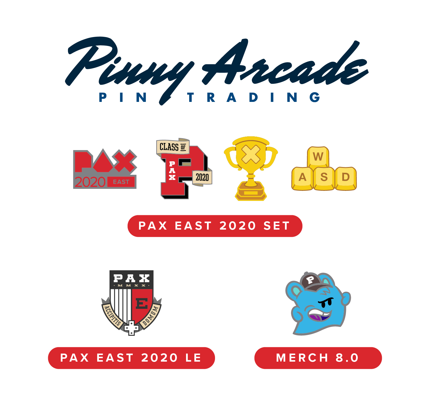 PAX EAST 2020 Show Pins