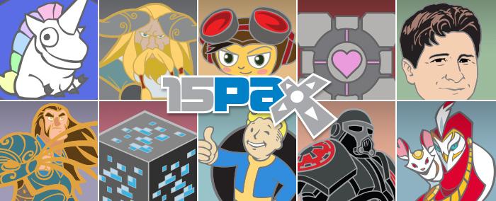 PAX Prime 2015 Pins
