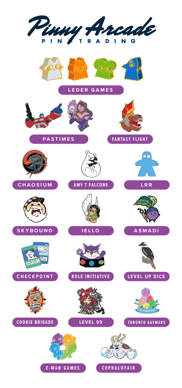 PAX Unplugged 2019 Partner Pins