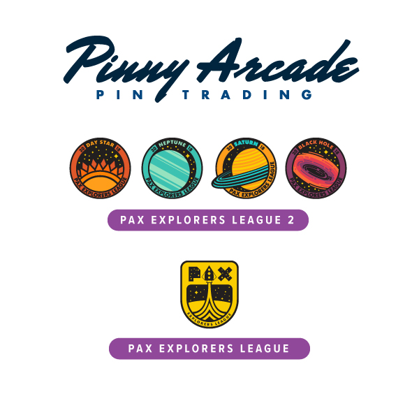 PAX Explorers League Pins