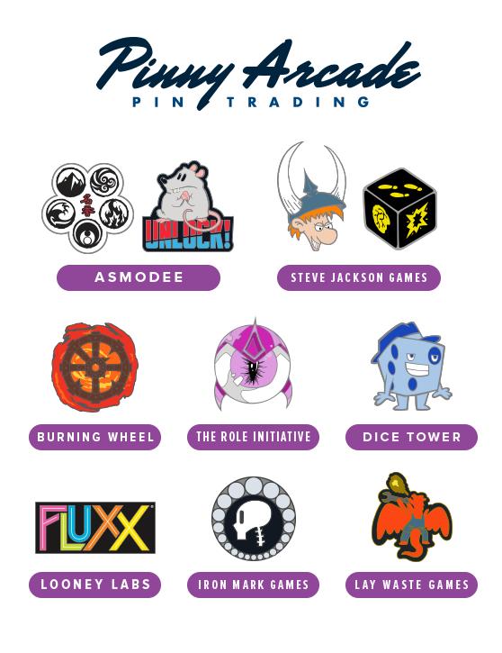 PAX Unplugged 2017 Partner Pins