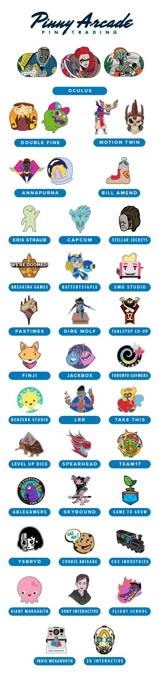 PAX West 2019 Partner Pins