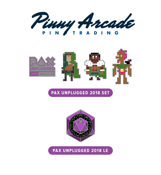 PAX Unplugged 2018 Show Pins